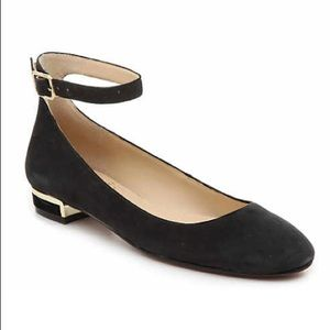 Vince Camuto Black Suede Attera Flat Size 8.5